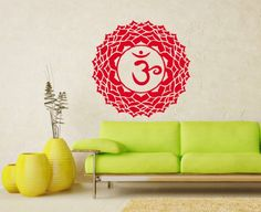 Wall Vinyl Decals Crown Chakra Religion Faith Symbol Om Yoga Indian Buddhism Buddha Sticker Art Home Modern Stylish Interior Decor for Any Room Housewares Murals Design Window Graphic Bedroom Living Room (5256) stickergraphics http://www.amazon.com/dp/B00IWRDIIE/ref=cm_sw_r_pi_dp_PirWtb1WGN2XW6ZS