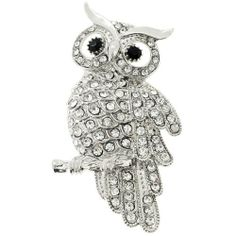 8d3e61cff088 Silver Owl Pin Bird Pin Brooch Fantasyard.  12.59. Exquisitely detailed  designer style. Other