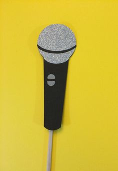 Photo Booth Props Microphone with Glitter  by CraftingbyDenise