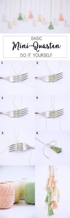 Basic DIY - Mini-Quasten selber machen - Anleitung