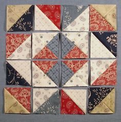 Row by Row photo Star Quilt Blocks, Quilt Block Patterns, Pattern Blocks, Star Quilts, Half Square Triangle Quilts, Square Quilt, Civil War Quilts, Patriotic Quilts, Sampler Quilts