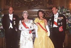 1994 Norwegian King and Queen on state visit to Scotland.
