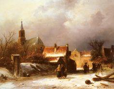 Charles Leickert - Winters stadsgezicht (3)
