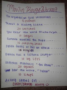 Moulin Rouge movie workout! :) Submission  Want to see more workouts like this one? Follow us here.