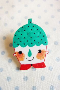 Strawberry Man Brooch