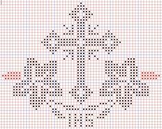 κεντημα how to dress like a french woman - Woman Dresses Embroidery Patterns, Cross Stitch Patterns, Crochet Patterns, Crochet Cross, Diy Crochet, Cross Stitching, Cross Stitch Embroidery, Faith Crafts, Catholic Crafts