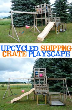 Upcycled Shipping Crate Playscape - Frugal Mom Eh!