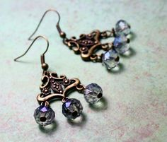 Hey, I found this really awesome Etsy listing at https://www.etsy.com/listing/460004534/crystal-and-bronze-chandelier-earrings