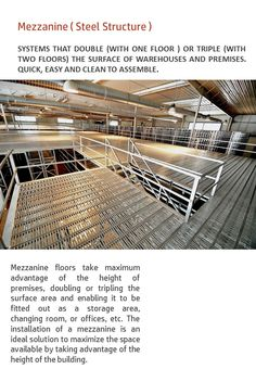 Mezzanine Floor, Shelving Racks, Surface Area, Steel Structure, Second Floor, In The Heights, Flooring, Steel Frame, Shelves
