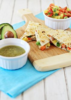 ... outside with this delicious cumin-lime pork and pineapple quesadillas