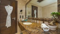 Our #spacious #bathrooms are perfect for a #relaxing #bath or a #refreshing shower