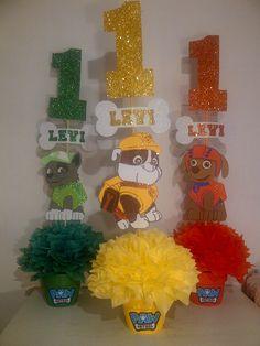 Super idea de decoración para fiesta de cumpleaños de Paw Patrol