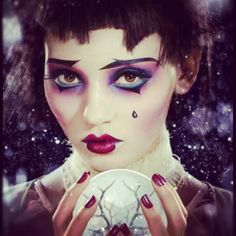 I am in LOVE with this picture!! From Illamasqua…..  Illamasqua's New Christmas Picture!! Makeup done by Legendary Makeup Artist Alex Box! She is my inspiration… Hopefully one day I will be producing Images like this for my portfolio…  Karla X