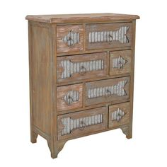 METAL/WOODEN DRAWER W/ARROW 63X32X82 - Drawers - Consoles - FURNITURE