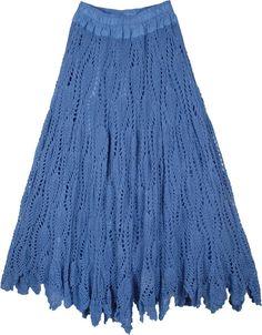 Long Crochet Skirt - Skirt Stockings