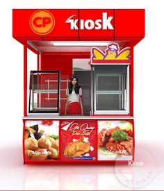 Kiosk chế biến thực phẩm Food Stall Design, Food Cart Design, Food Truck Design, Grill Design, Kiosk Design, Cafe Design, Food Service Jobs, Bubble Tea Shop, Cafe Counter