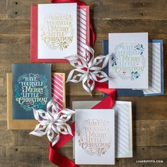 Printable Merry Little Christmas Cards