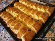 Slatki Kolaci: Majkine kiflice i pogacice Bosnian Recipes, Croatian Recipes, Kiflice Recipe, Appetizer Recipes, Dessert Recipes, Desserts, Bread Dough Recipe, Macedonian Food, Breakfast Crepes