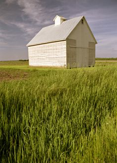 Near Fischer, lllinois USA - I think this is a Corn Crib and not a barn.  It definitely was a necessity in the corn belt.