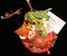 Lion King Timon Pumbaa Ornament Timon Moves New Disney | eBay