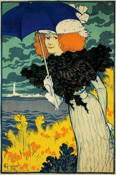 Eugène Grasset (Swiss, 1841-1917). Le Parasol. 1900.