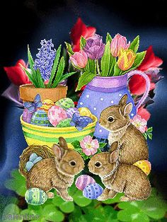 Easter Bunnies easter easter eggs easter decorations easter bunny easter quote happy easter easter gifs easter greeting easter wishes happy easter friends and family animated easter