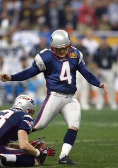 41 is the distance of Adam Vinatieri's game-winning field goal with 4 seconds remaining to give the Patriots the win in Super Bowl XXXVIII, winning 32-29 over the Carolina Panthers. (AP Photo/Tom DiPace)