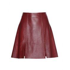 Acne Studios Leala wine-red leather skirt / Garance Doré