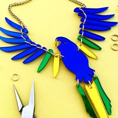 Believe in miracles, our brand NEW jewellery making is here: meet the Medium Milagros Parakeet Necklace! Tatty Devine, Believe In Miracles, Learn A New Skill, Parakeet, Workshop, Jewelry Making, Brand New, Make It Yourself, Meet