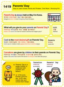 Easy to Learn Korean 1419 - Parents' Day.