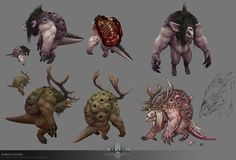 ArtStation - D3 RoS Monsters, Aaron Gaines