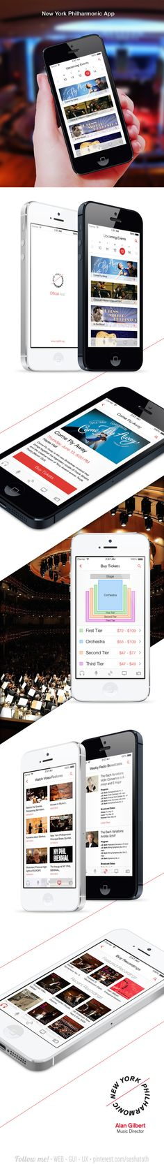 iOS application for New York Philharmonic by prosto , via Behance