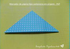 Semplicità Papelaria PAP: Marcador de página tipo cantoneira em origami - PAP