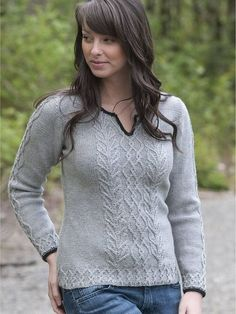 Graceful Cabled Tunic free pattern. DK