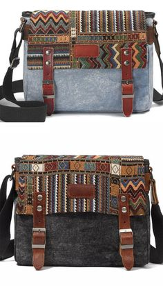 Vintage Folk Style Outdoor Totem Canvas Crossbody Bag Shoulder Bag. Shoulder  Bags ... 18c692fe7d2cd