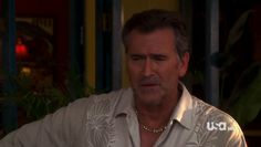 "Burn Notice 4x12 ""Guilty as Charged"" - Sam Axe (Bruce Campbell)"