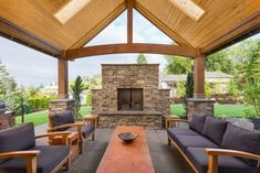 Beautiful Covered Patio Outside New Luxury Home  http://www.inspiredhomeideas.com/beautiful-patio-ideas-and-designs/