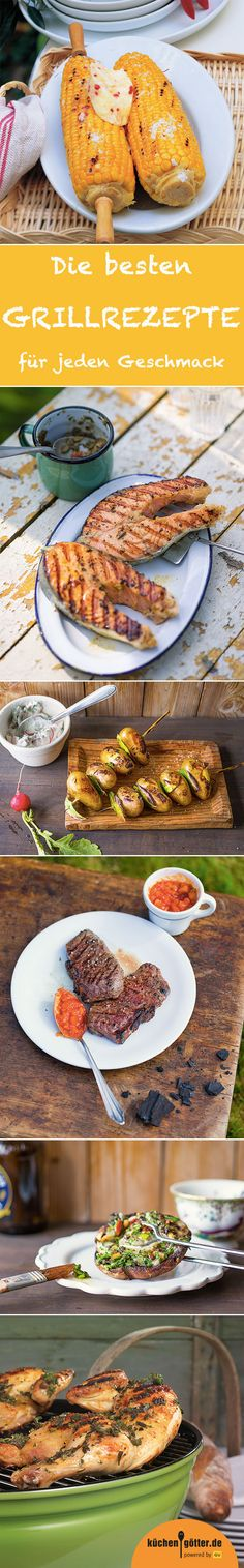 Barbecue - recipes, tips & ideas - What could be nicer than starting the grill in summer and enjoying grilled delicacies? Barbacoa, Grill Party, Bbq Party, Barbecue Recipes, Grilling Recipes, Vegan Appetizers, Appetizer Recipes, Summer Recipes, Top Recipes