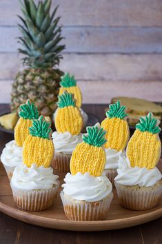 Pineapple Cupcakes -