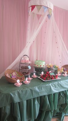 Woodland Fairy Party Dessert Table RHS