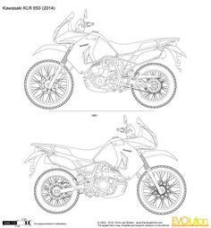 Kawasaki KLR 650 … Klr 650, Bike Equipment, Dual Sport, Sport Bikes, Cars And Motorcycles, Motorbikes, Art Sketches, Painted Rocks, Art Quotes