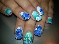 Stitch nails, hand painted by me.