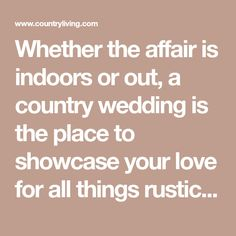 Create a wedding registry on blueprint registry learn more about whether the affair is indoors or out a country wedding is the place to showcase malvernweather Choice Image