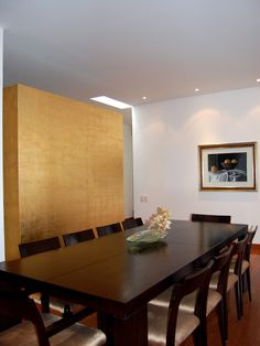 Wall Divider Installed Next To Luxurious Dining Room May Be A Cool Background For The Rectangular Dining Table Set