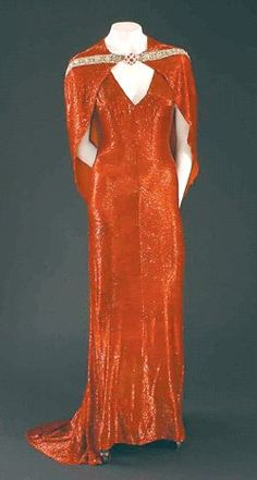 Gilbert Adrian gown for Joan Crawford in The Bride Wore Red; Four and Twenty