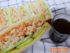 맛있는 샌드위치 만들기 7가지 레시피 Fresh Rolls, Sandwiches, Food And Drink, Cooking, Ethnic Recipes, Kitchen, English, Crafts, Manualidades