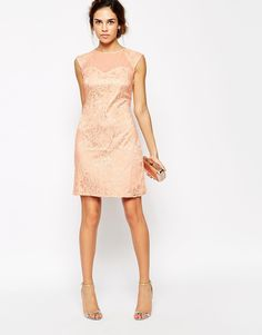 Image 4 of Little Mistress Lace Embellished Shift Dress