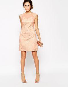 Image 4 ofLittle Mistress Lace Embellished Shift Dress