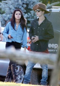Young love: The on/off couple appear to be firmly back on, with Biebs going all out to imp...