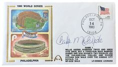 Bake McBride Phillies Signed 1980 World Series Gateway First Day Cover SI
